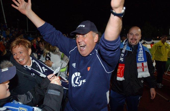 Benny Lennartsson ledet Viking til seier mot Chelsea. Foto: Hugo Bergsaker/Scanpix
