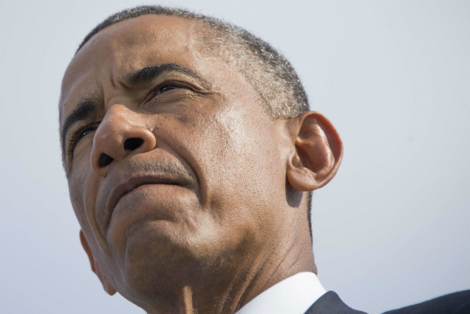 Barack Obama gikk til kraftig angrep på IS i sin tale for to uker siden. (Foto: AFP PHOTO / Jim WATSON)