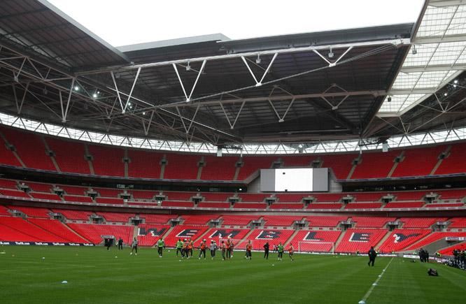 EM-finalen 2020 spilles på Wembley. (Foto: Scanpix)