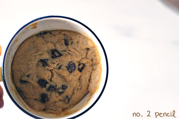 Chocolate Chip Cookie in a Cup, fra No. 2 Pencil (number-2-pencil.com)