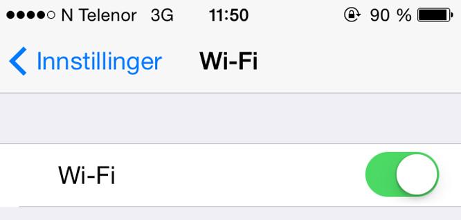 WiFi bruker mindre batteri enn 3G og 4G. (Foto: Skjemdump)