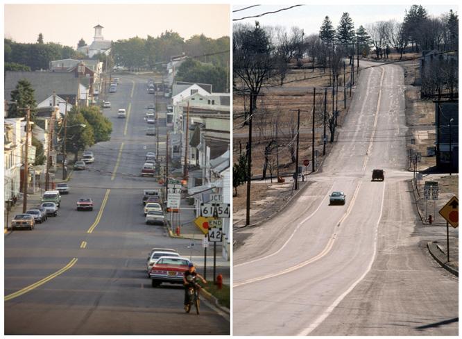 Bildet til høyre er tatt i 1983. Bildet til høyre er fra 2000. (Foto: Reuters/Scanpix)