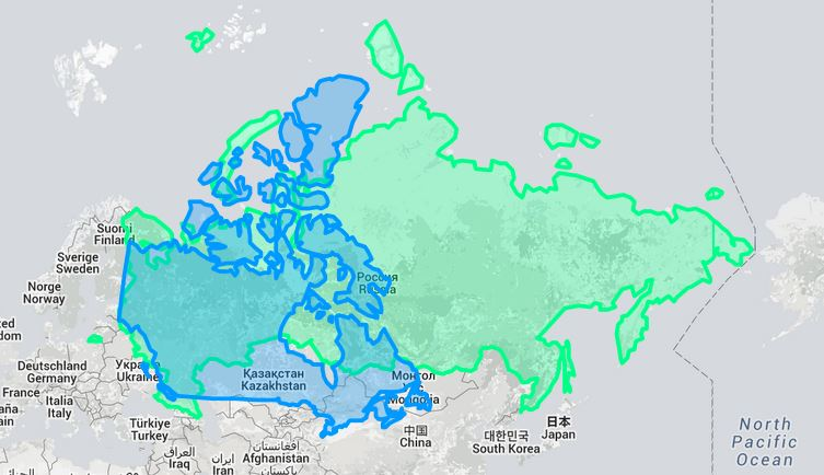 europas største land i areal