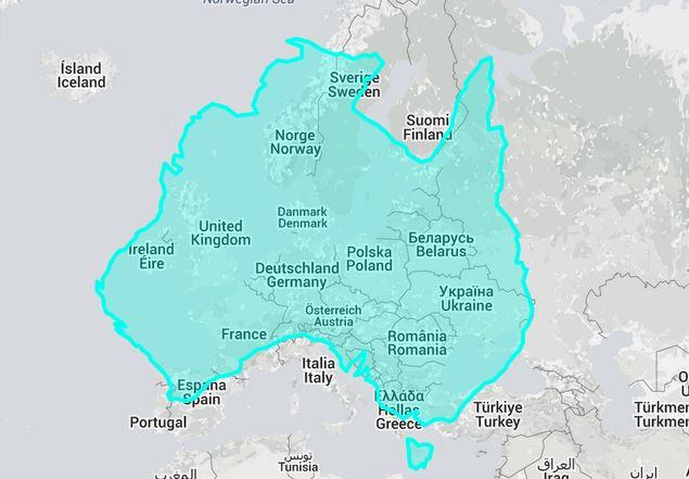 verdens største land areal