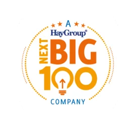 HAY GROUP SAW THE POTENTIAL AND TILTLED US AS A NEXT BIG 100 COMPANY