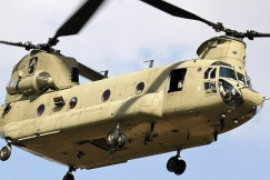 CH-47F cargo aircraft