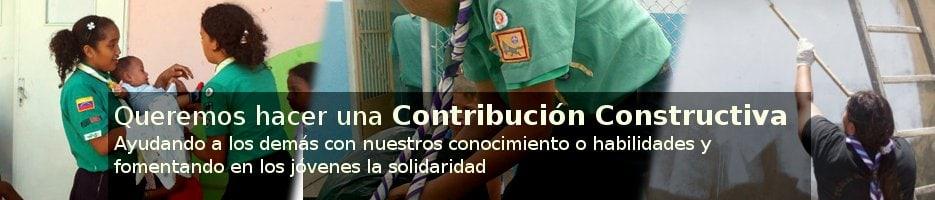 Queremos hacer una Contribución Constructiva. Ayudando a los demás con nuestros conocimiento o habilidades y fomentando en los jóvenes la solidaridad
