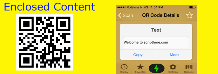 Adding QR Code for Post Content enclosed short code with arguments size