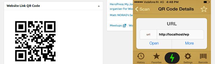 .Adding QR Code Website Link Widget at dashboard