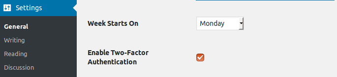Add a setting to enable Two-Factor Authentication