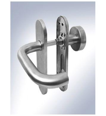 Gałko-klamka do drzwi ewakuacyjnych INOX