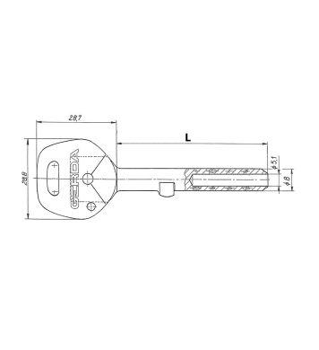 Klucz surowy GT-2 do Tytan ZX GERDA