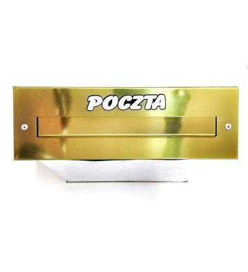 Skrzynka na listy do muru Złota na wkładkę SM-3
