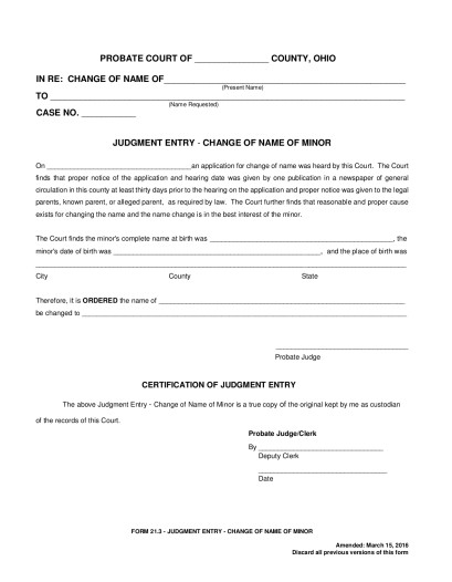 21.3 – Judgement Entry-Change of Name of Minor | Seneca County ...