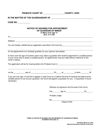 Guardianship  Seneca County Juvenile Probate Court  Page