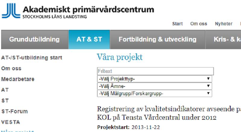 Spännande ST-projekt från Stockholm