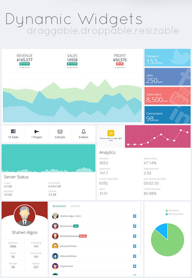 Quarca - Responsive Admin Dashboard Template