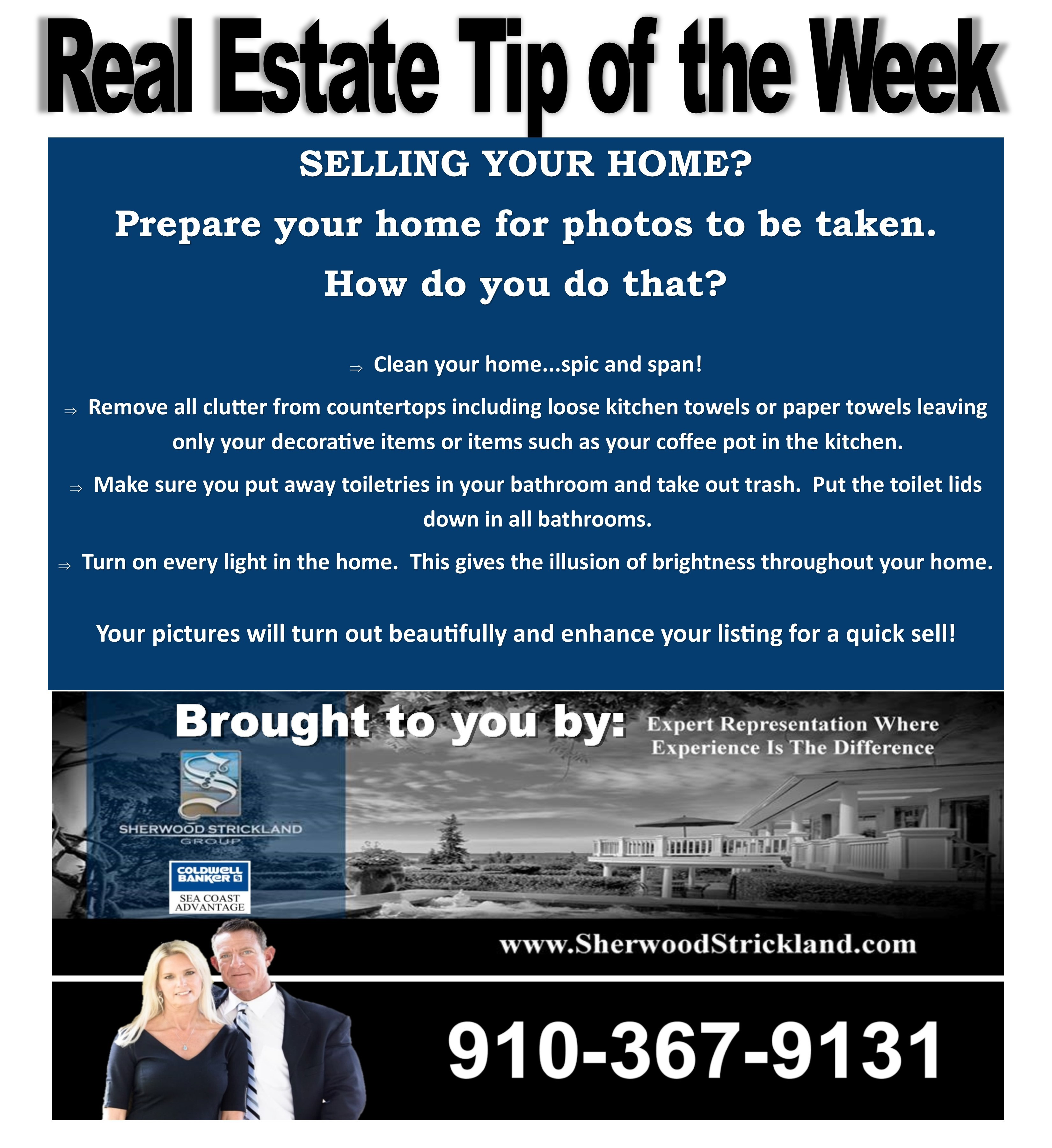 real estate tip of the week by the sherwood strickland group