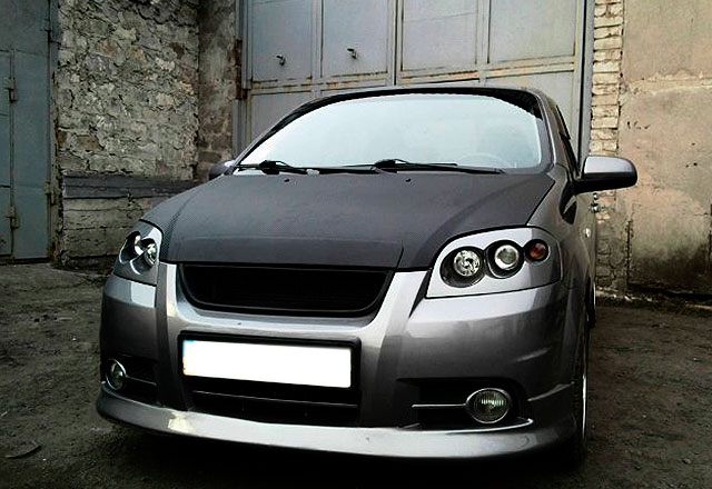 Chevrolet Aveo передние фары ангельские глазки