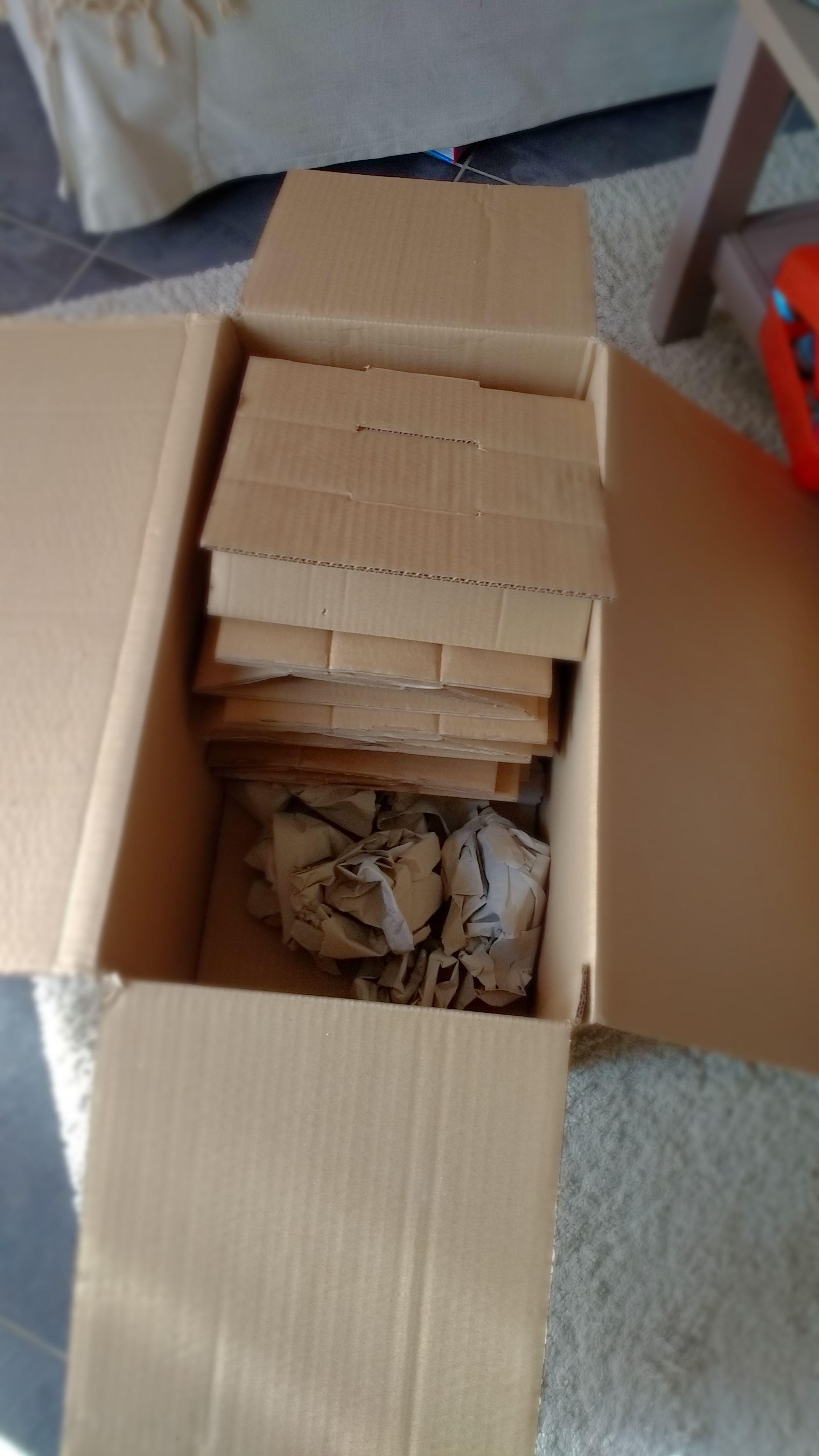 Carton rangé