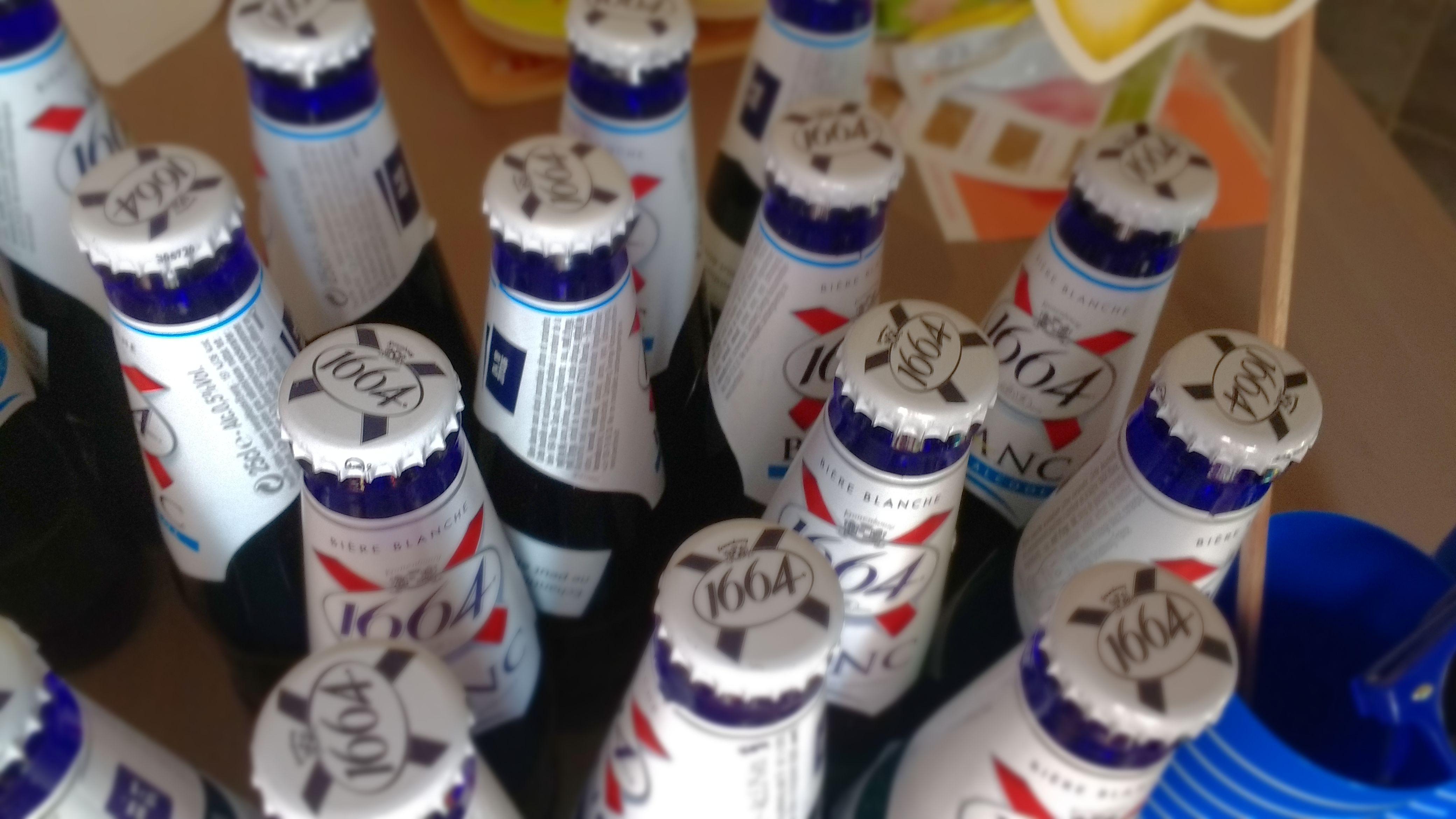 Vue de dessus bouteilles
