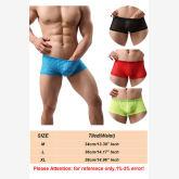 2pc Men's Underwear Panties Sexy Trunks Nylon Boxers Shorts Brief (Red) (EXPORT) - Intl