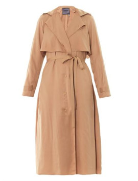satin-crepe-trench-coat-(174648) by lanvin