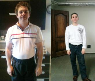 Александр Штерн - до и после диеты доктора Симеонса