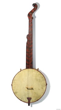 Banjo used in minstrel shows
