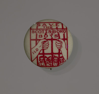 Save the Scottsboro Boys button