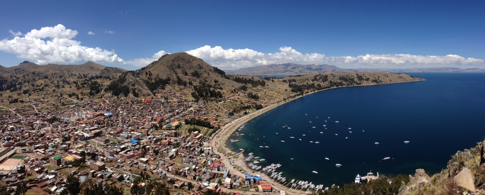 View of Lake Titicaca from Copacabana
