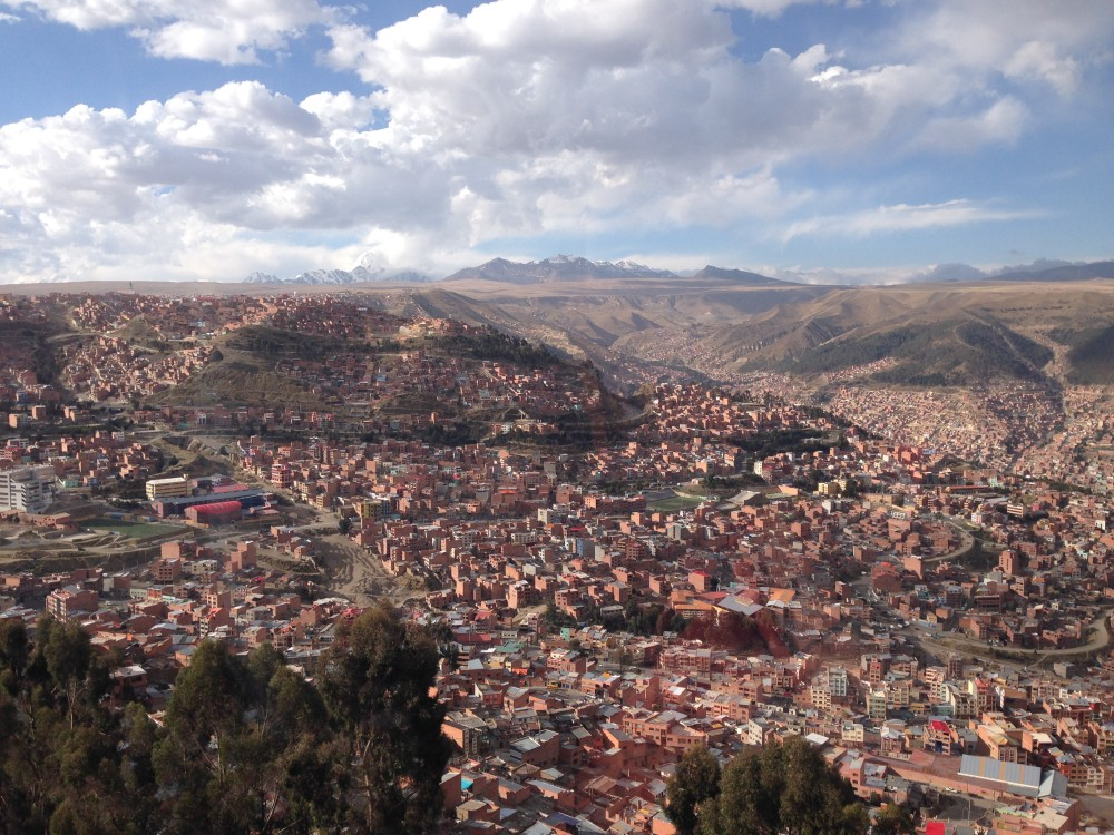 La Paz - view from the cable car