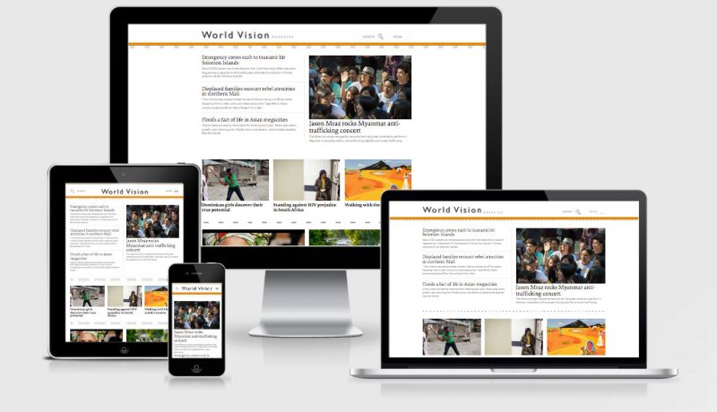 WorldVision Homepage