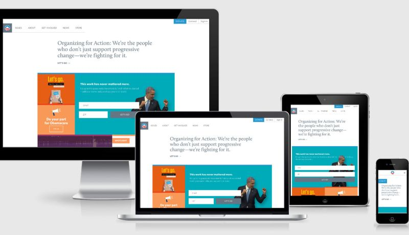 Barack Obama website across 4 viewports