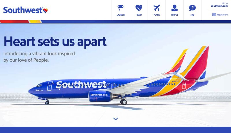 South West Heart Airlines Home Page