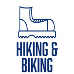 HIKING AND BIKING