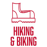 Hiking & Biking Icon: Fall at 43° N, 89° W - Madison, WI