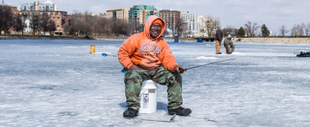 Ice Fishing on the Lakes