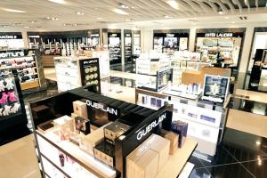 Lotte Duty Free Guam Cosmetics & Fragrances department at the airport