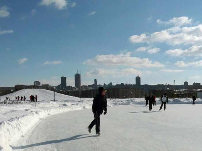 Location de patins à glace et de chambres à air au Parc de la Pointe-aux-Lièvres
