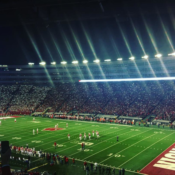 Perfect night under the lights at Camp Randall