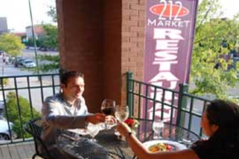 Outdoor dining at 212 Market Restaurant