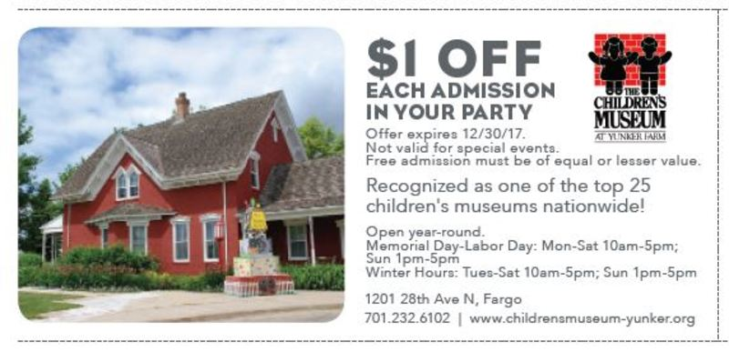 $1 OFF EACH ADMISSION IN YOUR PARTY