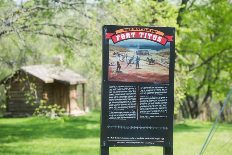 Fort Titus reenactment area