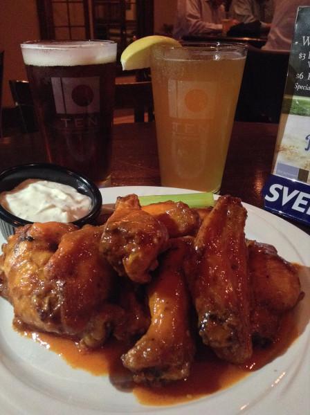 Buffalo Wings at TEN restaurant