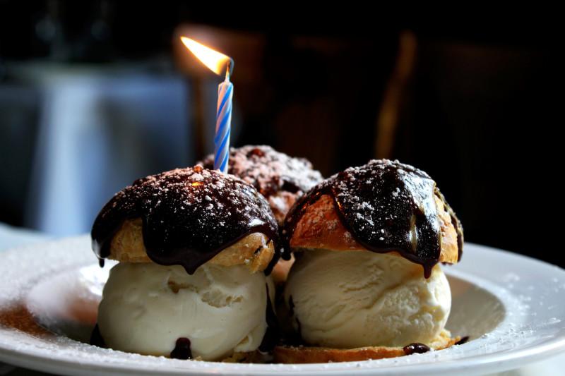 Birthday Profiteroles