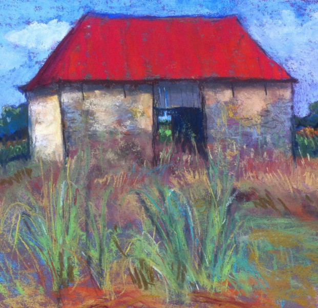 Best Farm (detail), pastel by Susan Due Pearcy, Sugarloaf Studio