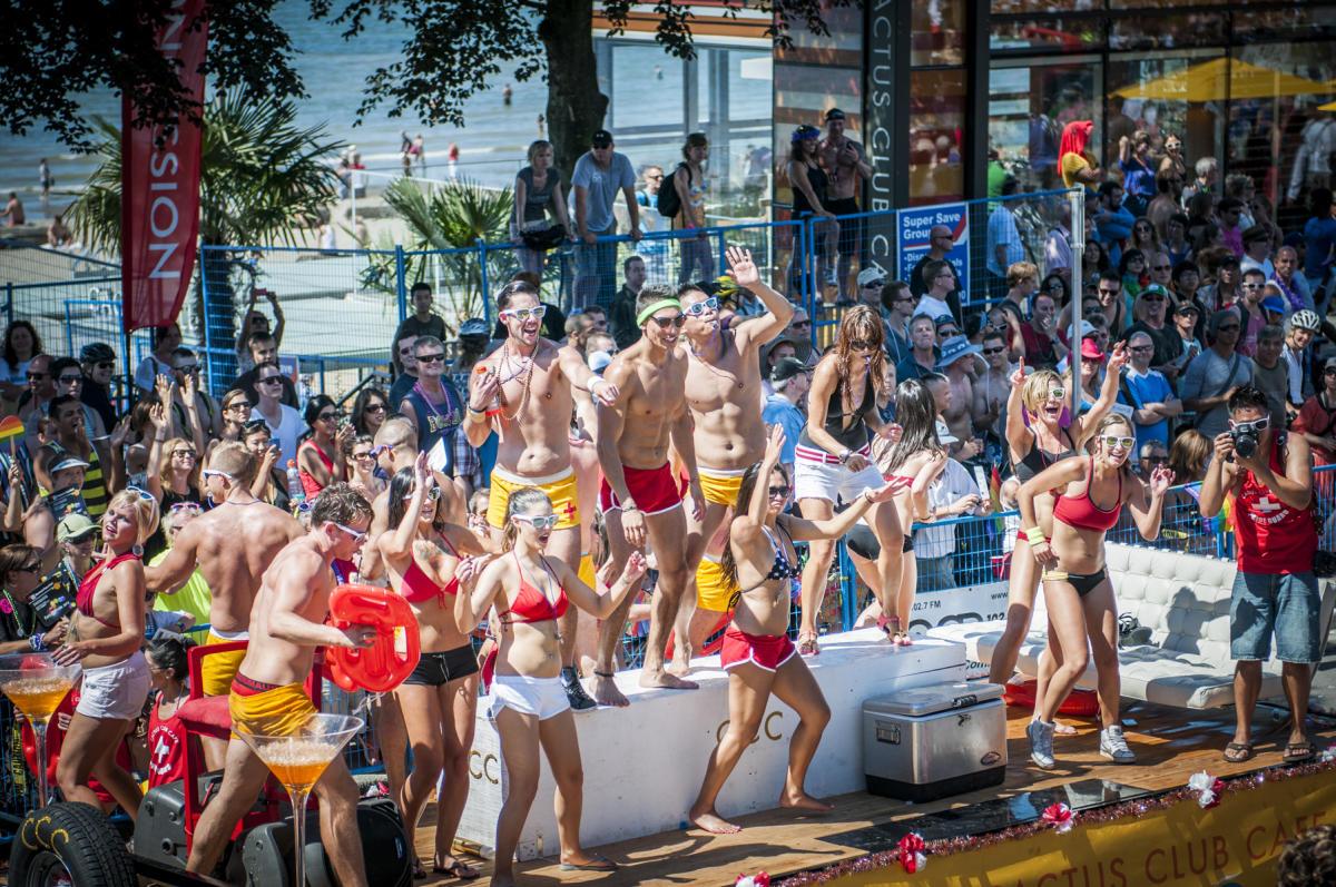 Houston gay pride beach