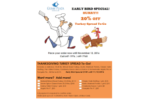 Guam Plaza Turkey Special 2016