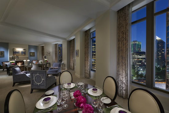 suite living and dining room